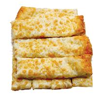 Pizza bread topped with fresh mozzarella cheese