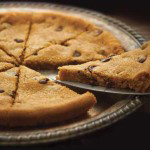 A warm, melted chocolate chip cookie for the whole family.