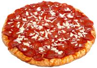 Tomato sauce, mozzarella cheese, double pepperoni, double cheese